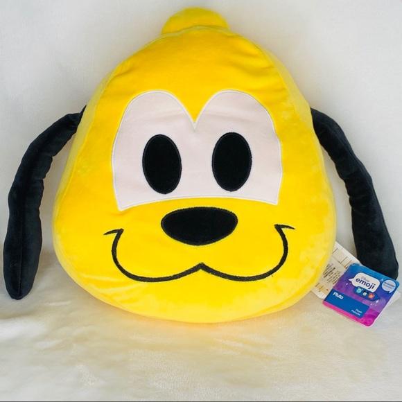 Disney Other - NWT Disney Pluto Emoji Plush Pillow